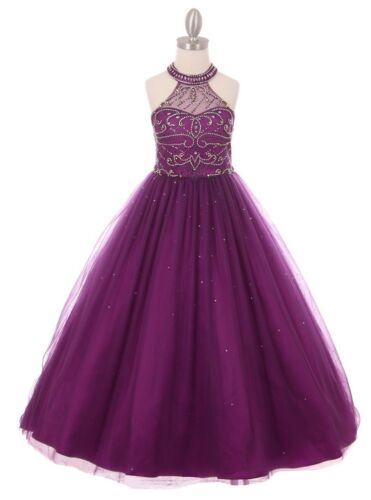 New Girls Royal Blue Quinceanera Gown Dress Party Pageant Wedding Elegant 5051