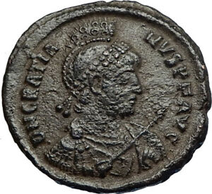 GRATIAN-on-Ship-w-Victory-Authentic-Ancient-Genuine-378AD-Roman-Coin-i67728