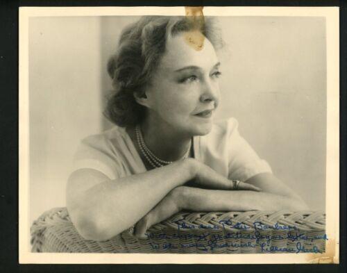 Lillian Gish Signed Autographed 8 x 10 Heavy Stock Photo