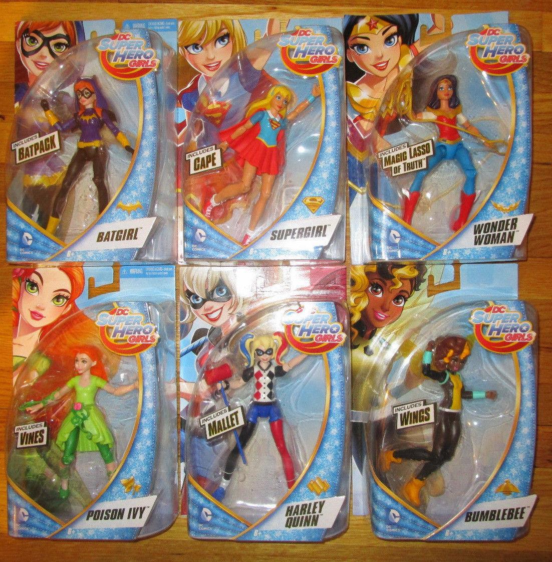 DC SUPER SUPER SUPER HERO GIRLS FIGURE SET WONDER WOMAN SUPERGIRL HARLEY IVY BATGIRL BUMBLE 7ce9b1