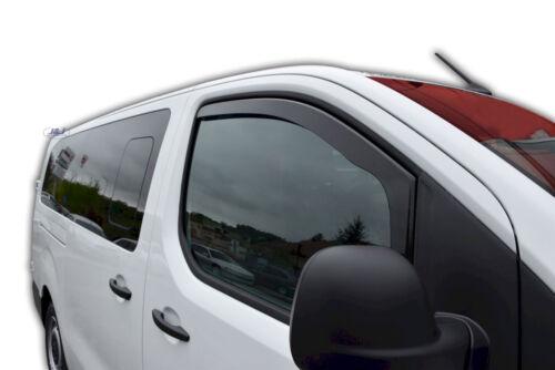 Toyota Proace II 2016-up Delantero Desviadores de viento 2pc Set tintadas Heko