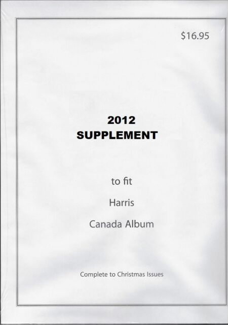 2012 Stamp Album Supplement to Fit the Harris Canada Stamp ...