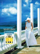 PUBLICITE ADVERTISING 024   1990   ESTEE LAUDER   parfum WHITE LINEN