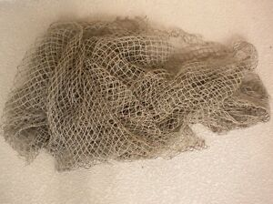 Authentic Nautical Tropical Vintage Used Fisherman's Fishing Net 5 x 10 Feet