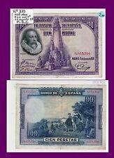 BILLETES REPÚBLICA ESPAÑOLA. 100 PTA.1928 ALFONSO XIII Nº 371 SERIE A  B.C.