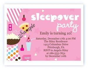 Image Is Loading 12 Personalized Custom Girl Girls Slumber Party Sleepover