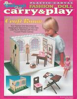 Fashion Doll Carry & Play Craft Room Plastic Canvas Pattern Book