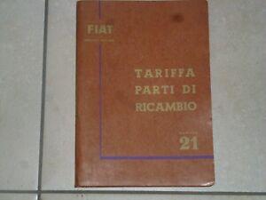 FIAT-SEZIONE-RICAMBI-TARIFFA-PARTI-DI-RICAMBIO-N-21-1958-CON-SUPPLEMENTI