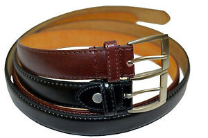 DRESS-BELTS-MENS-SET-OF-TWO-BLACK-BROWN-ALL-SIZES-FREE-SHIPPING-GREAT-GIFT-IDEA