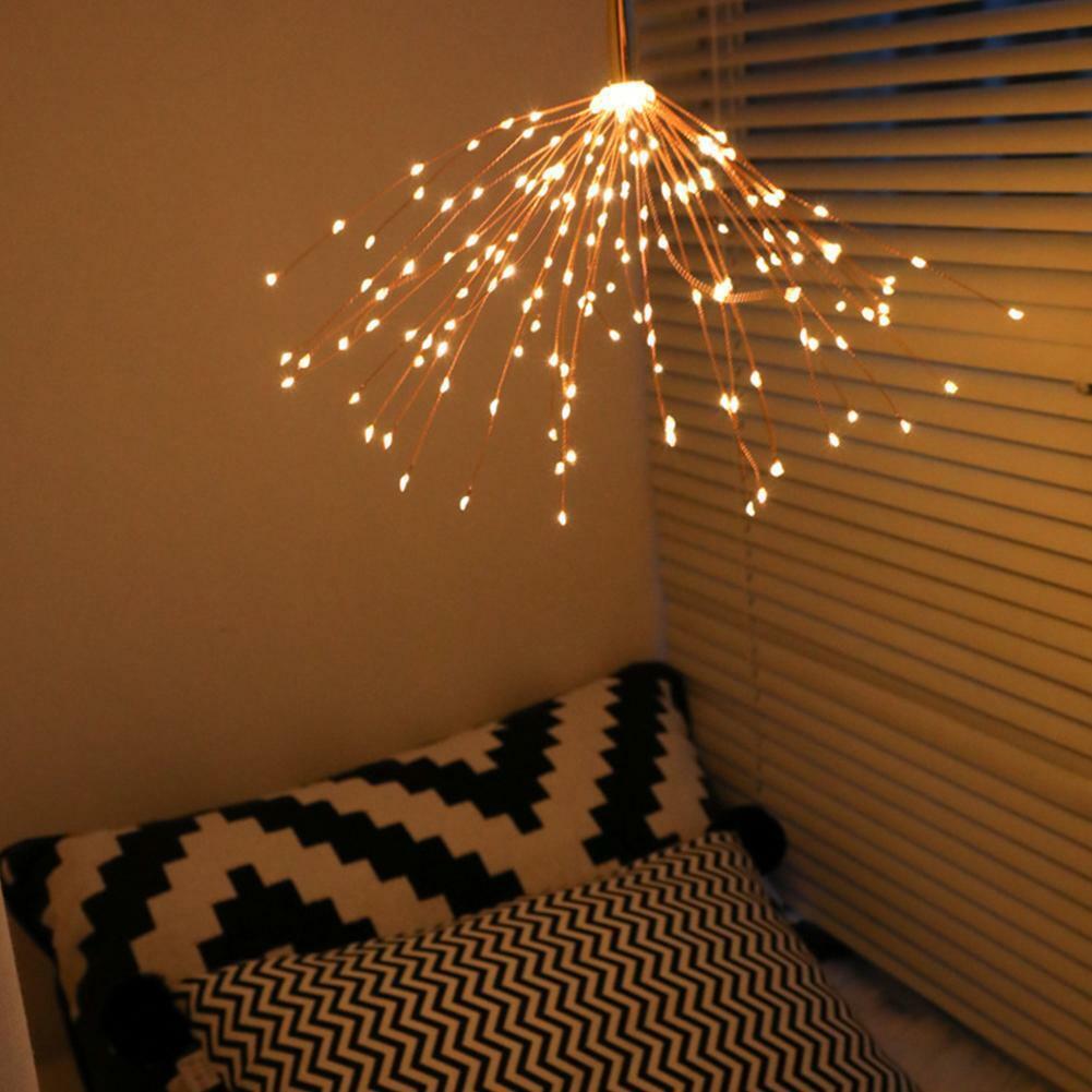 DIY Firework Starburst String Lights Hanging LED Fairy Garland Festival Light