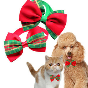 Puppy Christmas Dog 9 Styles Cat Pet Bowknot Necktie Collar Bow Tie ...