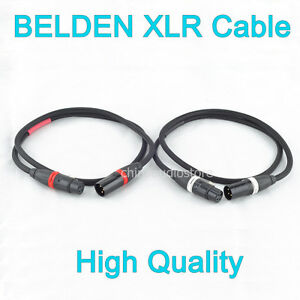 Hi-Fi-Pair-BELDEN-OFC-XLR-Balanced-Male-To-Female-Audio-Interconnect-Cable-24AWG