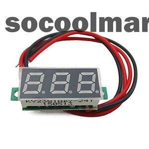 Mini-2-5-40v-0-28-034-LED-Panel-Voltage-Meter-3-Digital-Display-Voltmeter-NEU