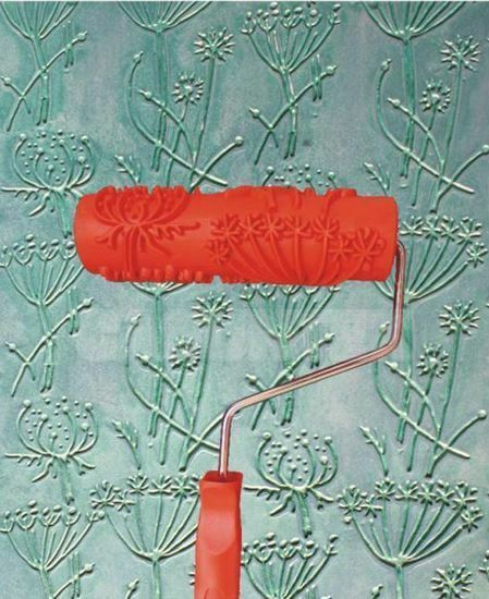 Dandelion Flower Print Embossed Pattern Paint Roller 18cm Wall Texture Stencil
