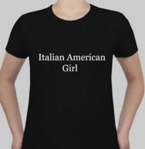 Italian-American-Girl-Black-T-Shirt-Size-XL