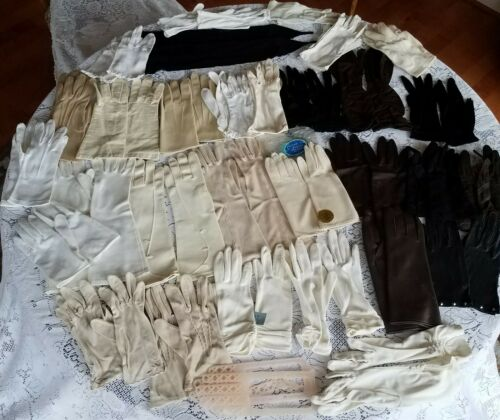 Lot of 30 Pair Vintage Women's Dress Gloves 40s-70