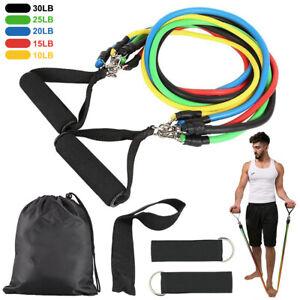 11 Stück Widerstandsbänder Gymnastikband Fitnessbänder Expander Set Neu Yoga