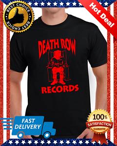 Death-Row-Records-Red-Logo-T-Shirt-Vintage-Rap-Tee-Hip-Hop-Dr-Dre-Snoop-Black
