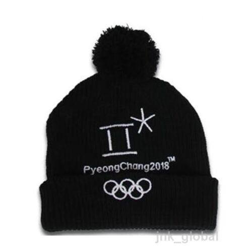 NEW 2018 Korea Pyeongchang Winter Olympics Official Goods Heart Beanie Black