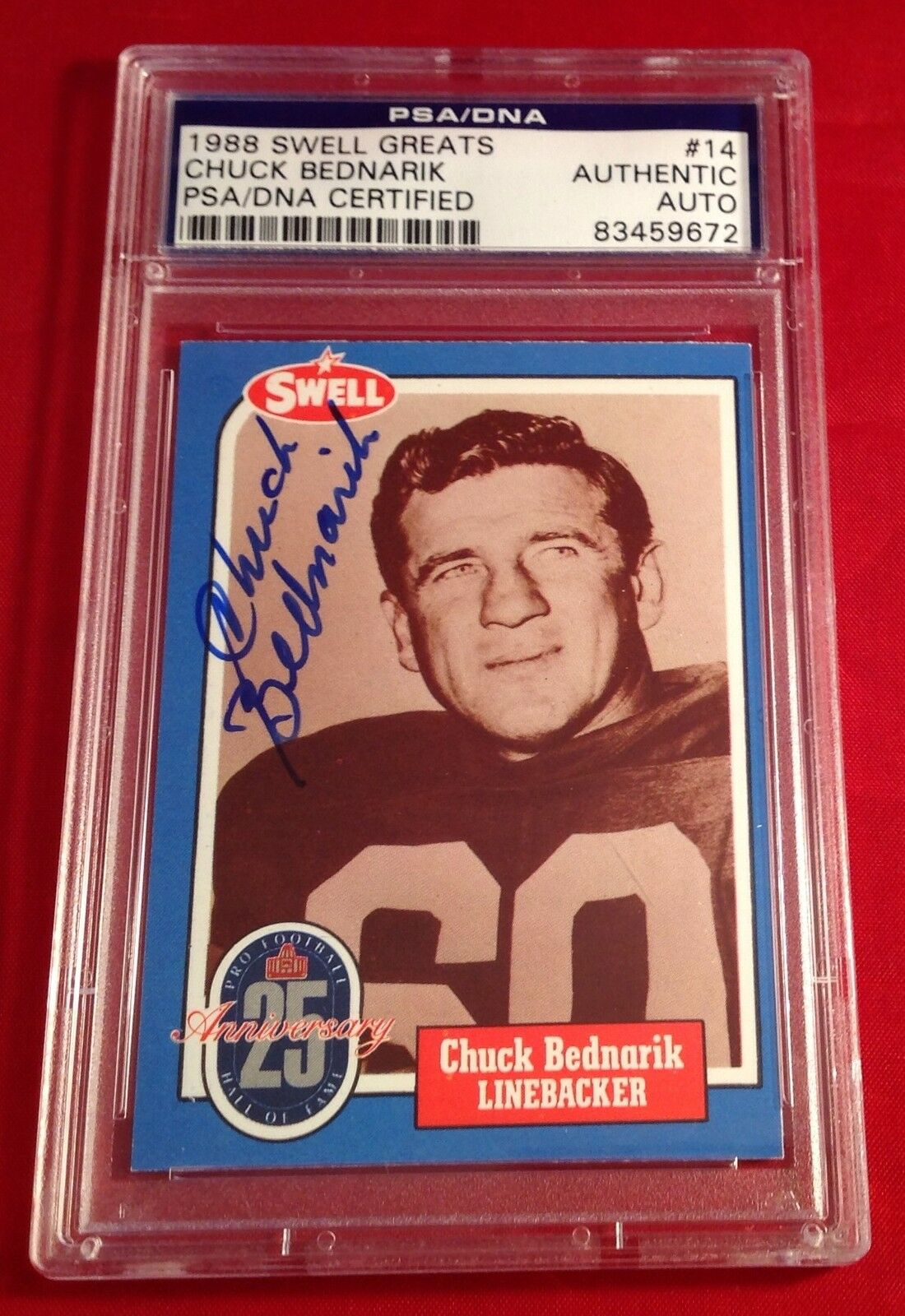 Chuck Bednarik 1988 Swell Greats Card PSA/DNA Slabbed #83459672