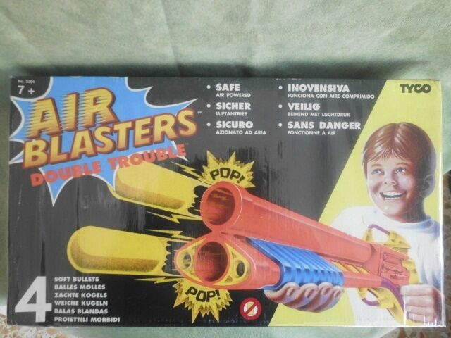 AIR BLASTERS DOUBLE TROUBLE FONDO DI MAGAZZINO TOY VINTAGE