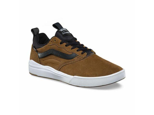 36a4f7d02398 Vans Ultrarange Pro Teak Black White Brown Men s 11.5 Skate Shoes New