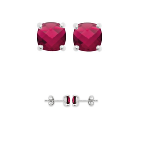 Boucles-D-039-oreilles-Puces-Cristal-Rouge-Rubis-6-MM-Argent-Massif-925-1000