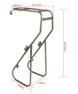 LKLM-Bike-Cycling-Bicycle-Platform-Front-Rack-Silver-Stainless-Steel-For-Touring