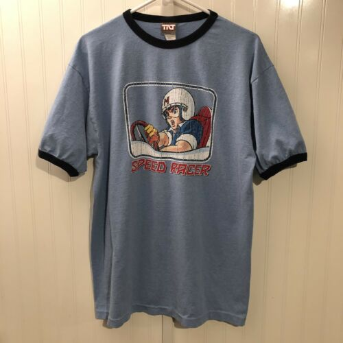 Vintage Speed Racer Ringer T-Shirt Men's Large Jap