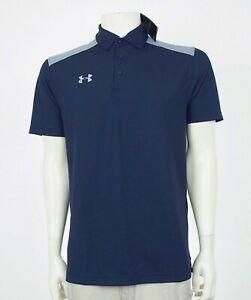 New-Under-Armour-UA-HeatGear-Blue-UA-Golf-Polo-Shirt-Mens-Small