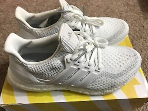 08055a104 Adidas Ultra Boost J 2.0 Triple White Kid 7 Youth Women 8 Running ...