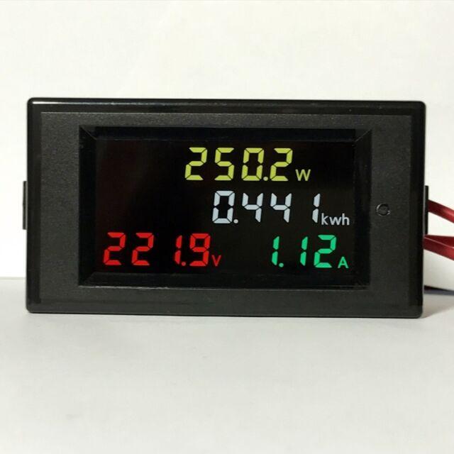 Digital AC80-300V 0.00-100A LED DISPLAY PANEL VOLT/AMP Meter With 100a CT