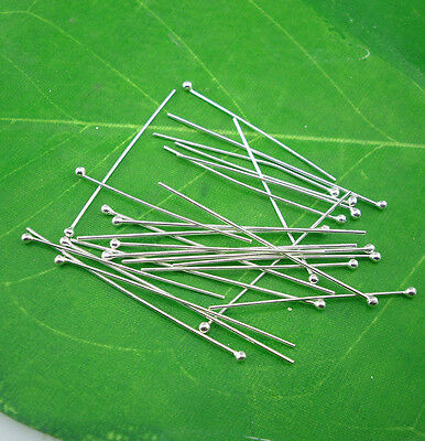 Diy 925 sterling silver ball Head pin Finding jewelry making free shipping