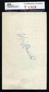 Vic Rashi Jsa Coa Autograph 3x5 Index Card Hand Signed Authentic