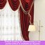 Luxury Ruby Red Velvet Valance Pelmet Curtain Drapes Sheer Blockout Rod Pocket