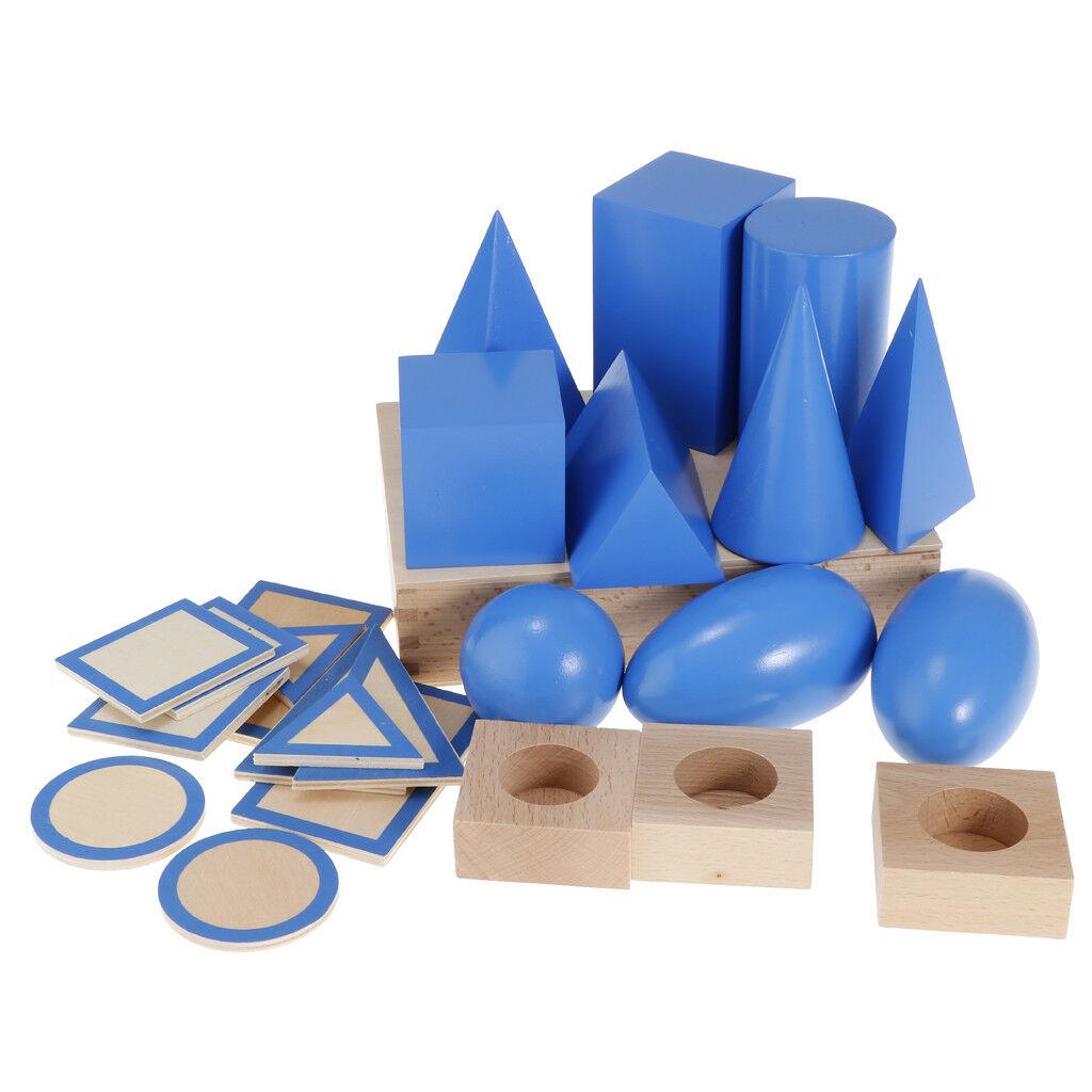 Entrega gratuita y rápida disponible. Material de enseñanza Montessori bloques sólidos geométricos cognitiva Juguete Juguete Juguete Preescolar  tienda en linea