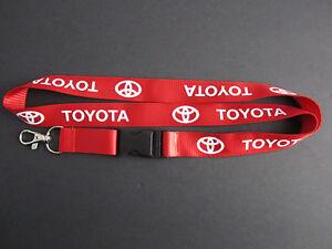 TOYOTA Lanyard Keychain Quick Release SUPRA CELICA AE86 COROLLA - RED | eBay