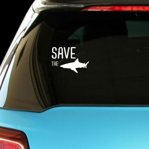SAVE THE SHARKS Animals Decal Sticker