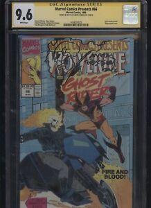 Marvel-Comics-Presents-66-CGC-9-6-SS-Mark-Texeira-1990-REMARKED-Wolverine