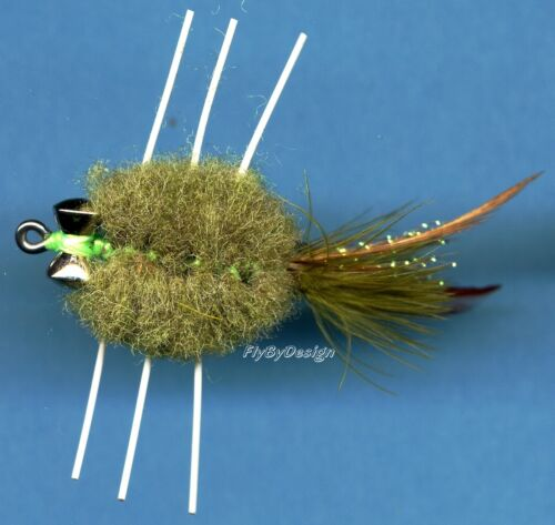Raghead pondérée Saltwater crabe avec Barbell yeux en Choix de Couleur et Taille