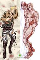 Anime Dakimakura body pillow case attack on titan reiner braun custom made
