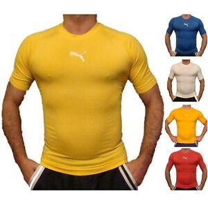 Puma-Hombre-Termica-Capa-Base-Camisa-manga-corta-741996-Tallas-S-M-L-XL-XXL