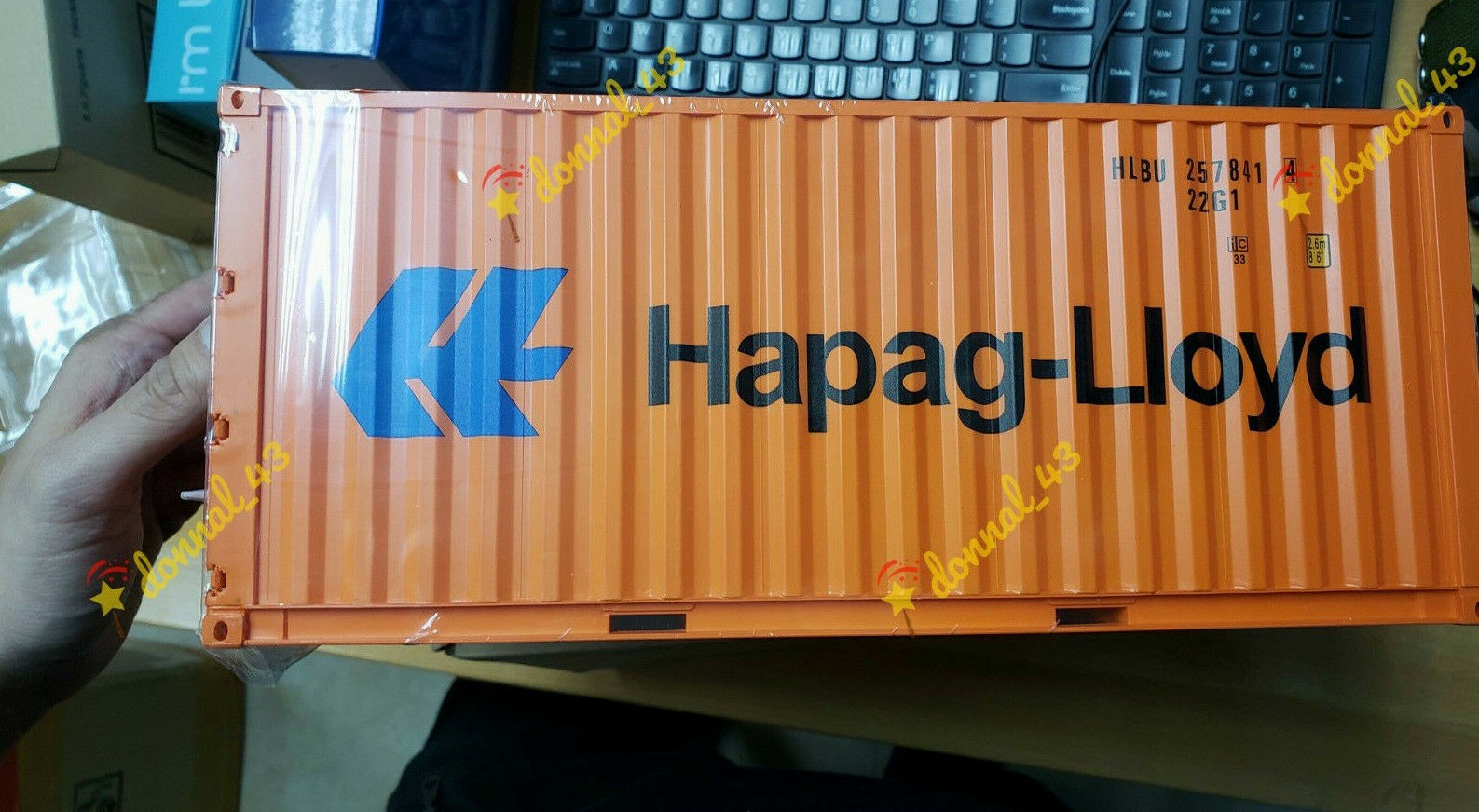HAPAG LIOYD 1 20 Sea Transport Cargo Shipping Container Model METAL