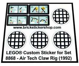 Lego-Custom-Pre-Cut-Sticker-for-Technic-set-8868-Air-Tech-Claw-Rig-1992