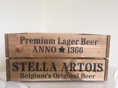 Stile Vintage In Legno Stella Artois Birra Vino Cassa Di Archiviazione Man Grotta Regalo-mostra Il Titolo Originale Altamente Lucido