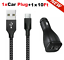miniature 30 - 3/6/10FT Braided USB C Type-C Fast Charging Data SYNC Charger Cable Cord