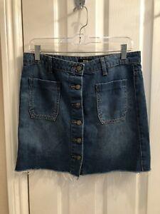 5136b58ce4 Women's URBAN OUTFITTERS BDG Denim Raw Hem Mini Skirt - Medium ...