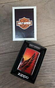Zippo-Harley-Davidson-Feuerzeug-Lighter-Sturmfeuerzeug-Wing-HD-60-001-598