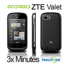 ZTE Valet Tracfone No Contract (3x) Triple Minutes for Life! Anroid Mobile - NEW