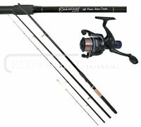 Oakwood 10ft 3pc Match/carp Feeder/quiver Fishing Rod & Oakwood Reel With Line